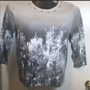Alfred Dunner Sweater sz MP